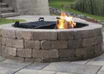 how to build a fire pit patio with pavers feature
