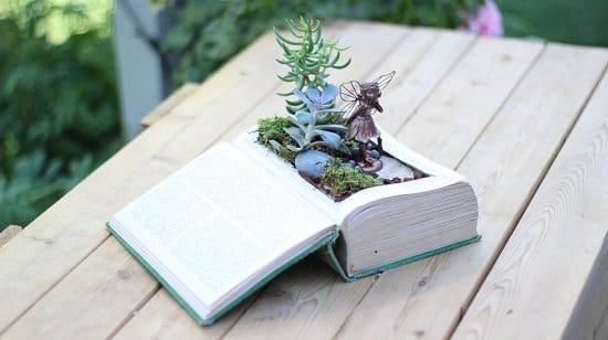 How to Make Vintage Book Planter | Easy DIY Home Decor
