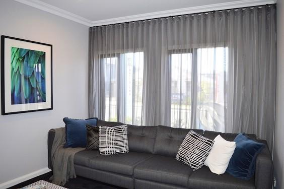Living Room with Curtains 1