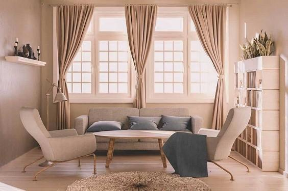 Living Room with Curtains 2
