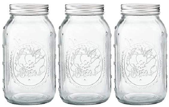 bathroom mason jar storage 1