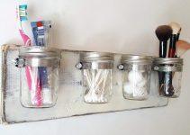 DIY Bathroom Mason Jar Storage Tutorial | Cheap and Easy Decor