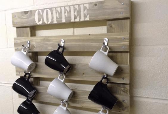 diy hanging mugs holder
